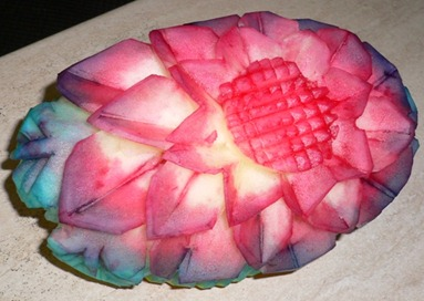 Fruit Carving Melone Colorato3.