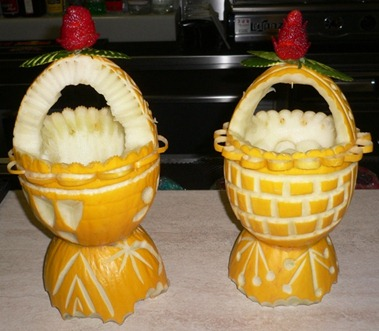 Fruit Carving Melone cestino