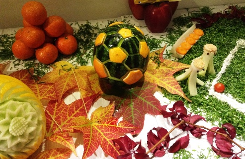 Fruit Carving Pallone Calcio