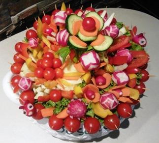 Fruit Carving Pinzimonio rosso1