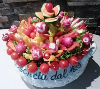 Fruit Carving Pinzimonio rosso2