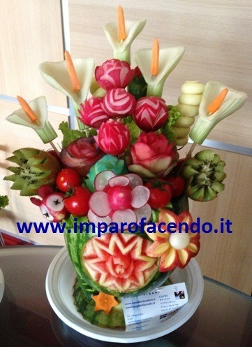 Fruit Carving Vaso Fiori (2)
