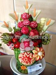 Fruit Carving Vaso Fiori centro tavola