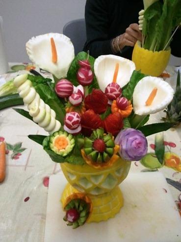 Fine corso fruit carving. Intaglio frutta e verdura www.imparofacendo.it