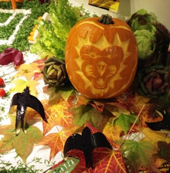Fruit Carving Zucca con Leone