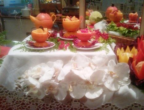 Fruit Carving caffetteria Servizio Caffé e Tea1