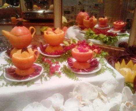 Fruit Carving caffetteria Servizio Caffé e Tea