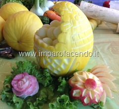 Fruit Carving cesto a conchiglia2r