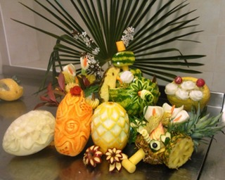 Fruit Carving corso in Villa (2)