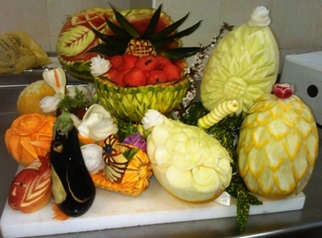 Fruit Carving corso in Villa (4)