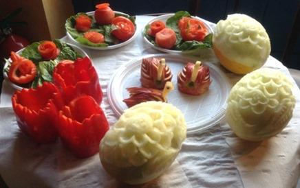 Fruit Carving durante Corso Prima giornata