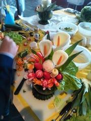 Fruit Carving durante corso Vaso fiori