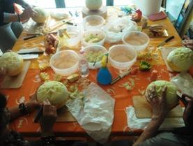 Oggi Durante Corso Fruit Carving a Marina di Ravenna, www.imparofacendo.it