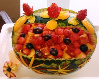 Fruit Carving intarsi in anguria1