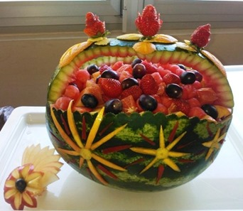 Fruit Carving intarsi in anguria