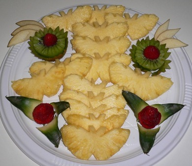 Fruit Carving piatto Ananas1