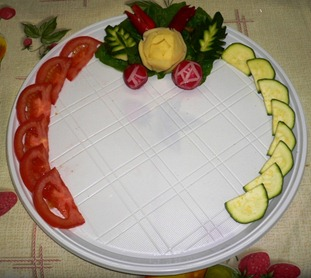 Fruit Carving piatto portata