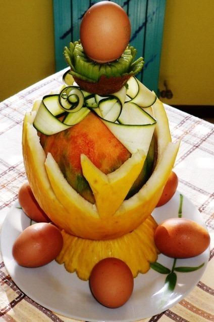 Fruit Carving, uovo di Pasqua stilizzato1
