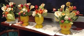 Fruit Carving vaso di fiori1
