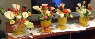 Fruit Carving vaso di fiori2