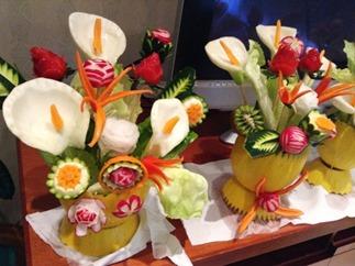 Fruit Carving vaso di fiori3