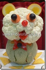 Fruit carving Cagnolino 1