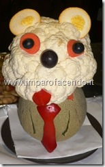 Fruit carving Cagnolino 2