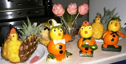 Fruit carving pupazzetti 1