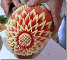 Fruit Carving Anguria fiore