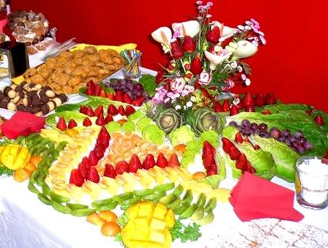 Fruit Carving Centro Tavola con frutta