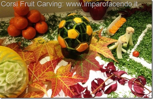 Fruit Carving Pallone Calcio