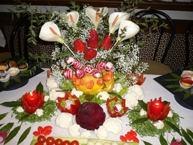Fruit Carving Vaso fiori