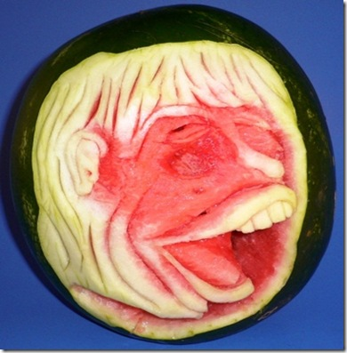 Fruit Carving Viso sorridente anguria