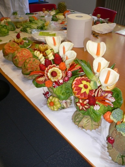 Fruit Carving durante i corsi