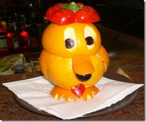 Fruit carving Cagnolino 3