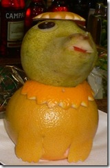 Fruit carving Cagnolino 4