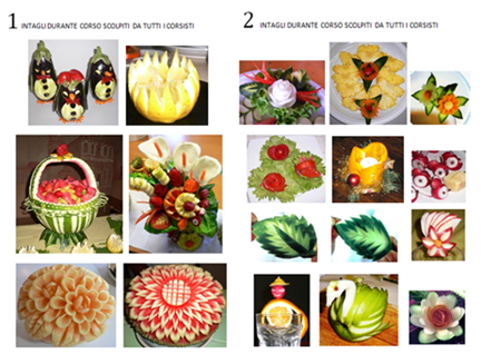 Intagli durante corso Fruit Carving