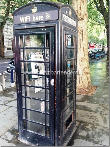 Londra WiFi in cabina Telefonica
