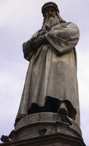 Milano Leonardo Da Vinci pensa sulla crisi