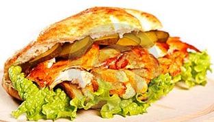 Panino con pollo