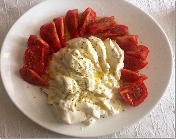 Piatto Burrata e Pomodori