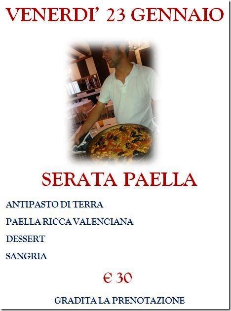 Serata Paella 23 Gennaio