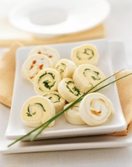 Stuzzichini Rotolini sfiziosi di formaggio fresco