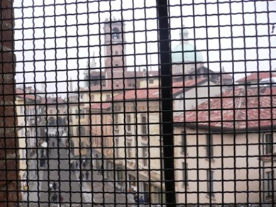 Vista da cella in carcere