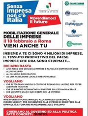 Volantino mobilitazione imprese a Roma