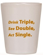 bicchiere triple shot