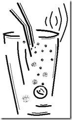 Bicchiere stilizzato Highball
