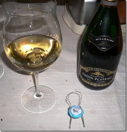 Champagne con sedia