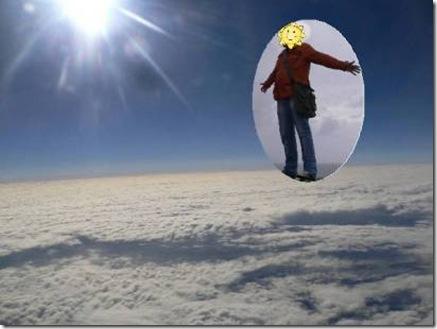 Foto, cammina sulle nuvole