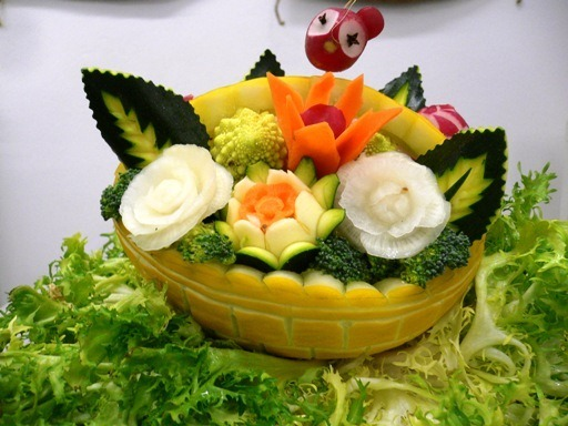 fruit carving Cestino2